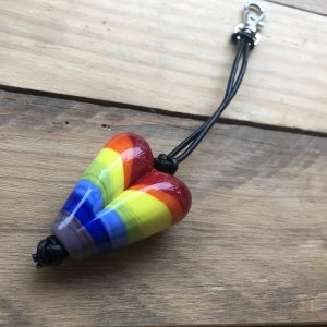 NHS Rainbow key ring bag charm