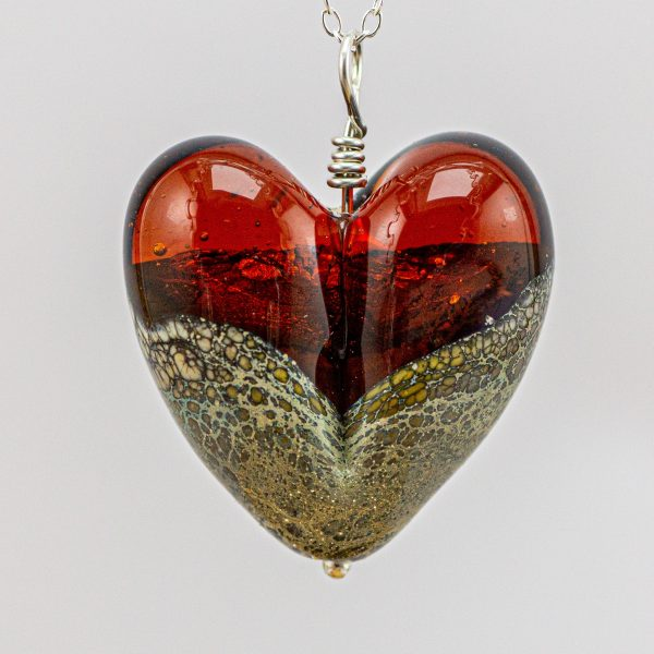 Large heart amber